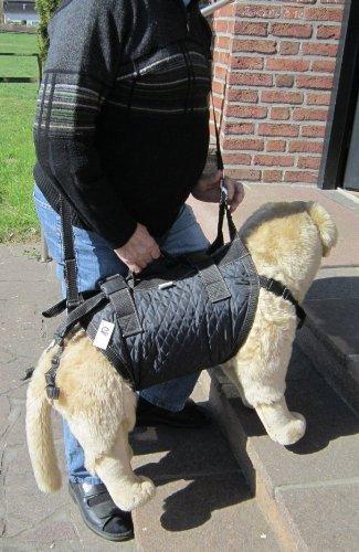 Tiffys-Tasche Größe 7, 66cm - 75cm Brustumfang. Hunde Gehhilfe / Tragehilfe - das Original - 1000fach bewährt - Made in Germany. Hoher Tragekomfort durch Polstermaterialien und gleichzeitig perfekter Halt und Sicherheit durch das patentierte Gurtsystem.