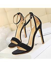 LGK   FA Sommer Damen Sandalen Modisch hochhackige Schuhe Damen Schuhe High  Heels Sparkling Leere Worte 0ae131f47b