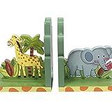 Fantasy Fields Sunny Safari Childrens Kids Holz-Buchstützen Babyzimmer W-9837A