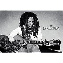 Bob Marley Poster Druck Tricolour Smoke Größe 91,5x61 cm Musik