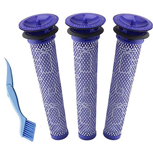 Waschbar Pre Motor Stick Filter Zubehör für Dyson,3 Stück Ersetzt Filter für Dyson DC58 DC59 DC61 DC62 DC74 V6 V7 V8 Staubsaugerzubehör - Pre Motor Filter