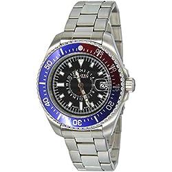 Nautec No Limit Gents Watch XL Analogue Quartz Stainless Steel Deep Sea DS GMT / Ststrdblbk-Qz