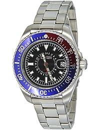 Nautec No Limit Herren-Armbanduhr XL Deep Sea Analog Quarz Edelstahl DS QZ-GMT/STSTRDBLBK
