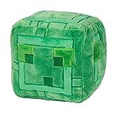 Minecraft - Peluche Slime Cubo, Verde, 7.5'