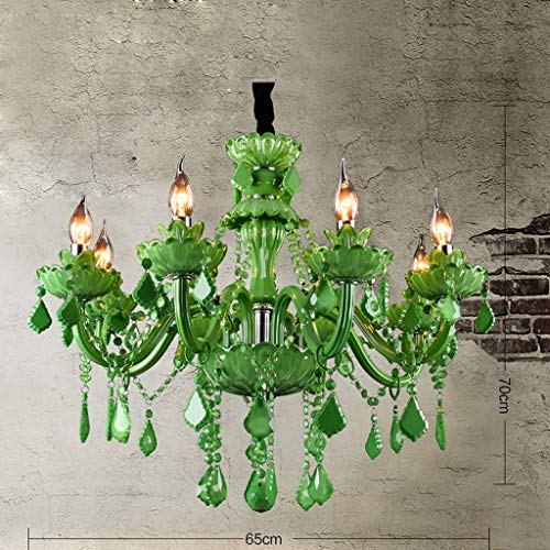 KAIASlink Mediterraneanl romantische Cafe Bar Restaurant Lobby Internet Cafe Farbe LED Kerze Kristall Kronleuchter kreative Kunst Beleuchtung