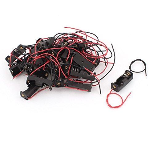 Sourcingmap® Lot de 20 Crochets 2-Fils en Plastique Noir 1 Pile 12 V 23A Coque Porte-Cellule