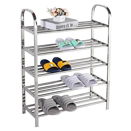 Support de chaussure tube rond en acier inoxydable combinaison de chaussures rack multi-couche maison en métal de stockage de chaussures armoire