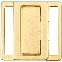 Bikiniverschluss Metall gold Steg 10 mm