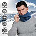 IKuaFly-Scaldacollo-in-Pile-Funzioni-Multiple-Beanie-Mask-Cervicale-Warmies-Antivento-Invernale-Bici-Moto-Ciclismo-Snowboard-Sci-Running-Thermico-Neck-Warmer