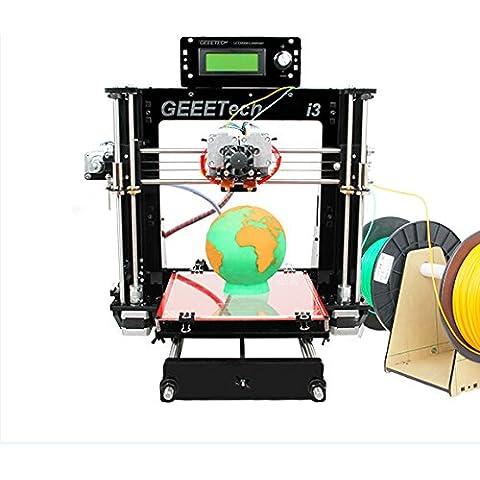 Impresora 3D I3 Pro C WER Dual Extrusora 3D Conjunto de bricolaje conjunto de la impresora / auto 3D Kit de impresora DIY / plataforma de construcción optimizada / extrusora de doble w / 2 bobinas / trabaja con 5 tipos de filamentos: ABS, PLA, nylon de madera-polímero PLA y