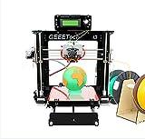 WER I3 Pro C 3D Drucker Dual Extruder 3D DIY Drucker/ Selbstmontage 3D-Drucker DIY-Kit Set/ optimiert Bauplattform / dual Extruder W / 2 Spulen / arbeitet mit 5 Arten von Filament: ABS, PLA, Holz-Polymer, Nylon und flexible PLA