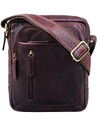 STILORD 'Jamie' Herren Ledertasche Umhängetasche klein Vintage Messenger Bag Herrenhandtasche für 9.7 Zoll iPad Moderne Leder Schultertasche für Männer
