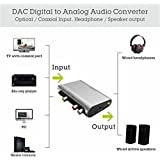 Avantree Dac Digital To Analog Audio Converter Box Audio Adapter With Optical Cable, Speaker 3.5mm Rca Output - Dac02