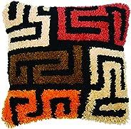 Latch hook cushion kit Boho kuba cloth