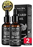 BEST CHOICE 2 Pack Beard Castor Oil Serum Conditioner for Men Beard Mustaches