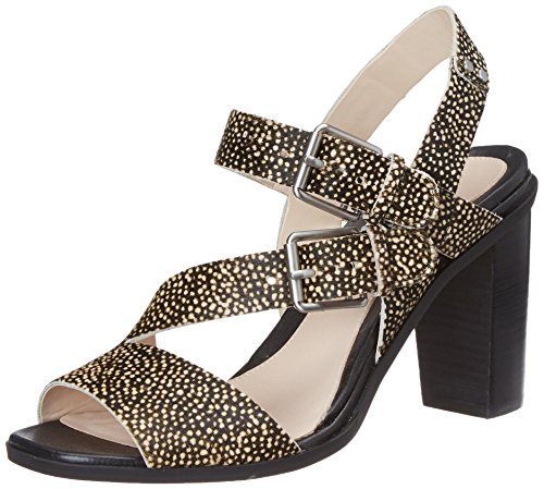 Clarks Women's Image Dazzle Blk Interest Leather Fashion Sandals - 5 UK