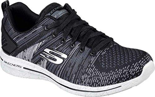 Skechers Burst Walk, Sneaker Donna Nero