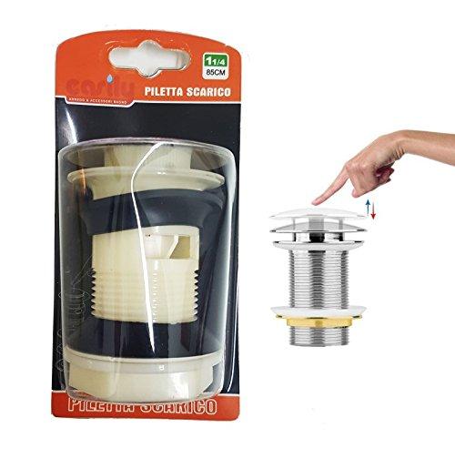 takestop® Stöpsel Abfluss Kunststoff Clip für Waschbecken Bidet Schale Spüle Universal 85cm 11/4