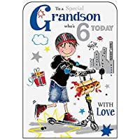 Grandson 6th Birthday Card