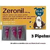 3 Pipeta antipulgas perros 20-40 Kg Zeronil 268mg anti pulgas Spot On pipetas