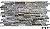 1 PVC Dekorplatte Steindekor Wandverkleidung Platten Wand 98x49cm, 54614