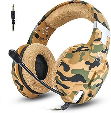 Jeecoo G1500 Gaming-Headset für PS4 / PC/Xbox One/Nintendo Switch Gaming-Kopfhörer mit Mikrofon, Lautstärkeregler, weicher Memory-Ohrenschützer, Surround-Sound, geräuschisolierend