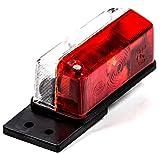 Umrissleuchte mit Gummipendel für Steckbirnen, Lichtscheibe geschraubt, rot/weiß