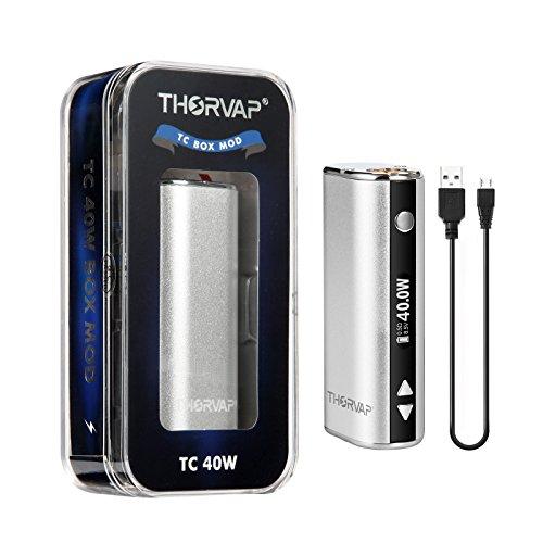 E Cigarette Battery, THORVAP® TC 40W Box Mod 2200mah, TC/VW Vape Mod with HD OLED Display, 510 Thread E Cig Battery Compatible with Ecig Vape Tanks No Vape Liquid Nicotine Free Ecigs