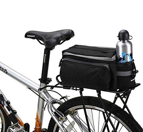 BestFire 7L Mountain Road MTB Bicycle Bike Cycling Sport Waterproof Rear Seat Bag Pannier Trunk Bag Bicycle Accessories Shoulder Handbag Bag Pannier Black