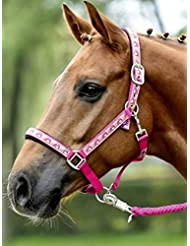 Busse–Cabestro Juego de búho rosa rosa Talla:Shetty