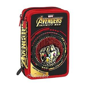 Astuccio 3zip completo Avengers infinity War Seven Color Color Negro Rojo