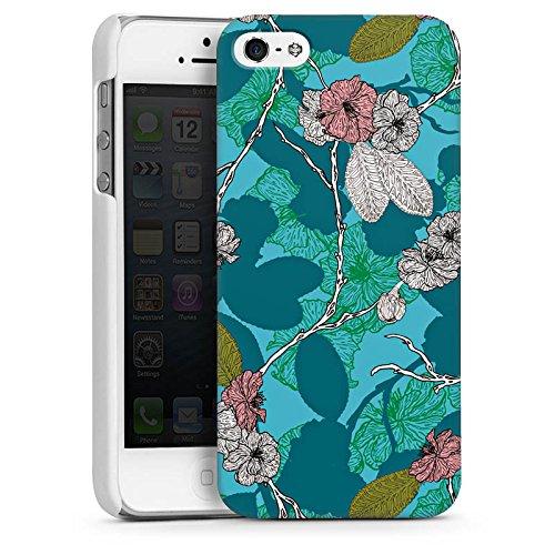 Apple iPhone SE Housse Outdoor Étui militaire Coque Fleurs de cerisier Fleurs Motif CasDur blanc