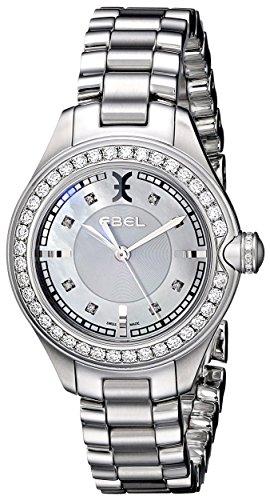 EBEL WOMEN'S ONDE 30MM STEEL BRACELET & CASE SWISS QUARTZ ANALOG WATCH 1216096