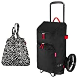 reisenthel citycruiser Rack + citycruiser Bag 45 l Einkaufstrolley - schwarz + Mini Maxi Shopper hopi