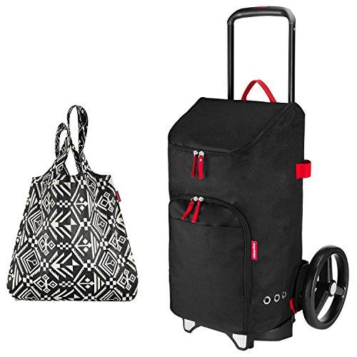 reisenthel citycruiser Rack + citycruiser Bag 45 l Einkaufstrolley - schwarz + Mini Maxi Shopper hopi