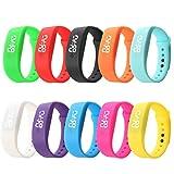 Kanpola Digital LED Armband Herren Damen Gummi LED Uhren Datum Sport Armband Digital Armbanduhr