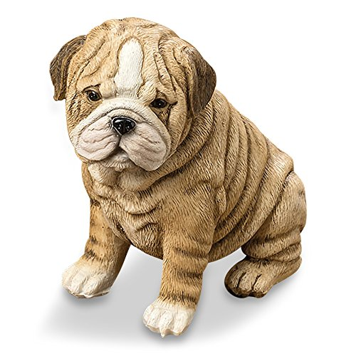 Whole House Worlds 7801400DogStatueP 6 Inches Tall Shar-pei Puppy -