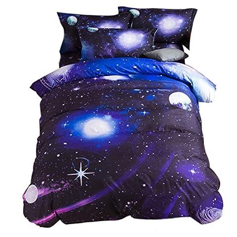 sourcingmap 3D Bedruckt Galaxy Sky Kosmos Nacht Muster Bettbezug Set