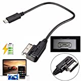 Type C USB-3.1 AUDIO CABLE ADAPTER MALE AUX MUSIC INTERFACE FOR AUDI AMI MMI VW ABT