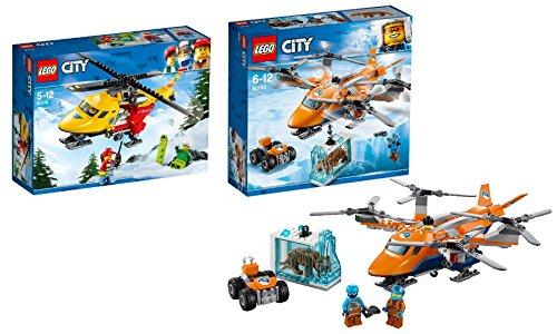 Steinchenwelt LEGO City 2er Set: 60179 Rettungshubschrauber + 60193 Arktis-Frachtflugzeug