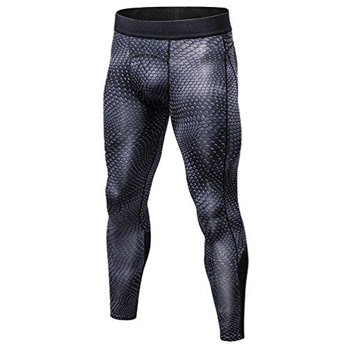 YiJee Herren Schlank Schnelltrocknend Jogging Hose Fitness Kompressionshose Als Bild S (Körper Kompressionskleidung)