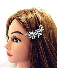qtmy para el pelo, diseño de flor y brillantes decorativos Pin Joyería Accesorios para el pelo