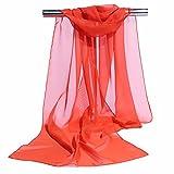 Westeng 1pcs Femme Foulard en Mousseline de Soie Écharpe mince Châles Couleur unie Simple Elégante pour Printemps Automne