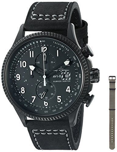 AVI-8 Men's AV-4036-05 Hawker Hunter Analog Display Japanese Quartz Black Watch