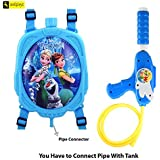 Zest 4 Toyz Holi Water Gun with High Pressure Holi Pichkari with Back Holding Tank, Holi 1.25 Litre - Frozen Princess