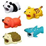 leegoal Cute Animal Cable Bites, Cable Protector for iPhone Cable Cord Cute Animal Phone Accessory Protects Cable Accessory