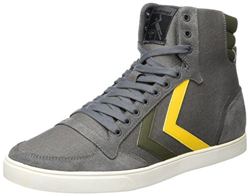 hummel Unisex-Erwachsene Slimmer Stadil Duo Canvas High Hohe Sneaker, Grau (Castle Rock), 42 EU