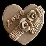 LC Love Flower N149Mould Craft Art Silikon Seife Form Craft DIY, Seifengießform Kerze handgefertigt