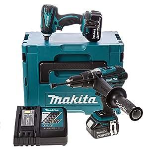 makita dlx2005mj bohrmaschine schlagschrauber mit schlagschrauber 2 akkus in geschenkverpackung. Black Bedroom Furniture Sets. Home Design Ideas