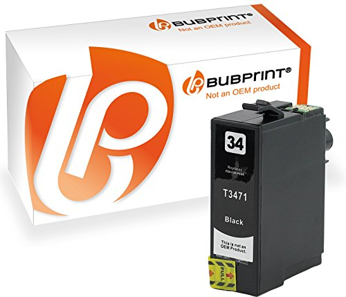 Bubprint Druckerpatrone kompatibel für Epson T3471 XL 34XL black WorkForce Pro WF-3720DW WF-3720DWF WF-3725DWF